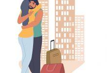استقبال الزوج من السفر في الفراش